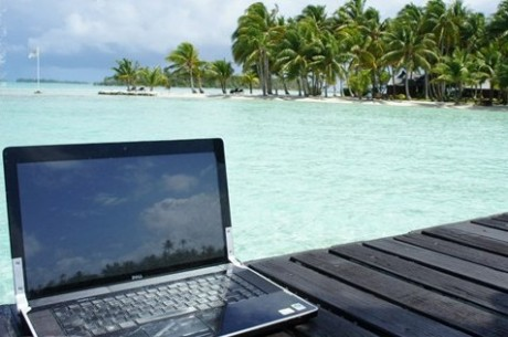 tropical laptop